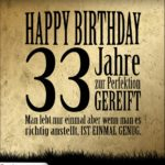33. Geburtstag Retro Geburtstagskarte