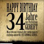 34. Geburtstag Retro Geburtstagskarte