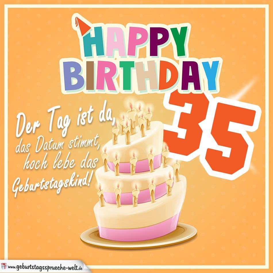 35. Geburtstag Geburtstagssprüche Happy Birthday Geburtstagskind