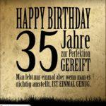 35. Geburtstag Retro Geburtstagskarte