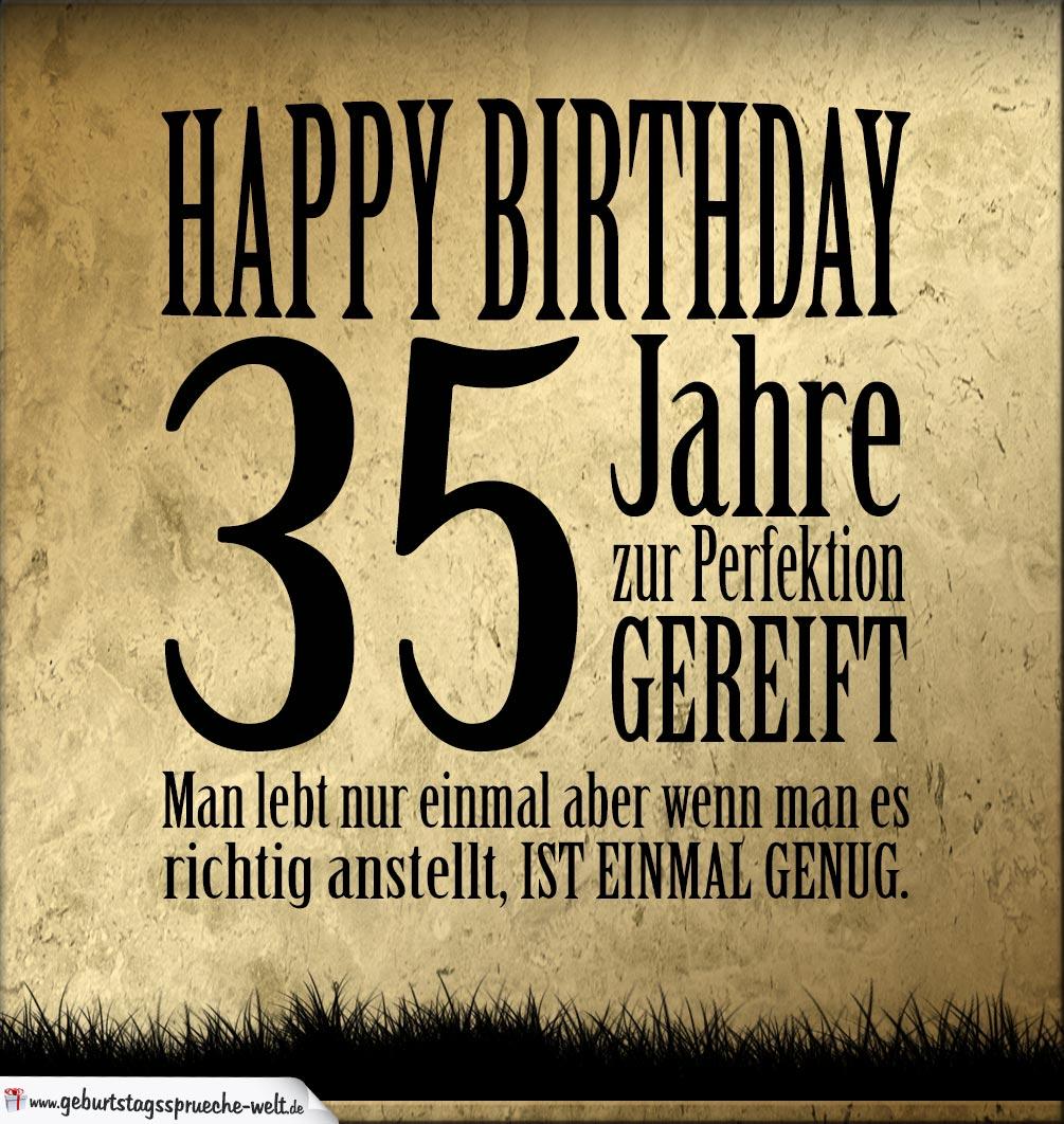 35 geburtstag retro geburtstagskarte geburtstagsspr che welt - Geburtstagskarte 25 geburtstag ...