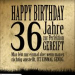 36. Geburtstag Retro Geburtstagskarte