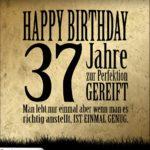 37. Geburtstag Retro Geburtstagskarte