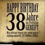 38. Geburtstag Retro Geburtstagskarte