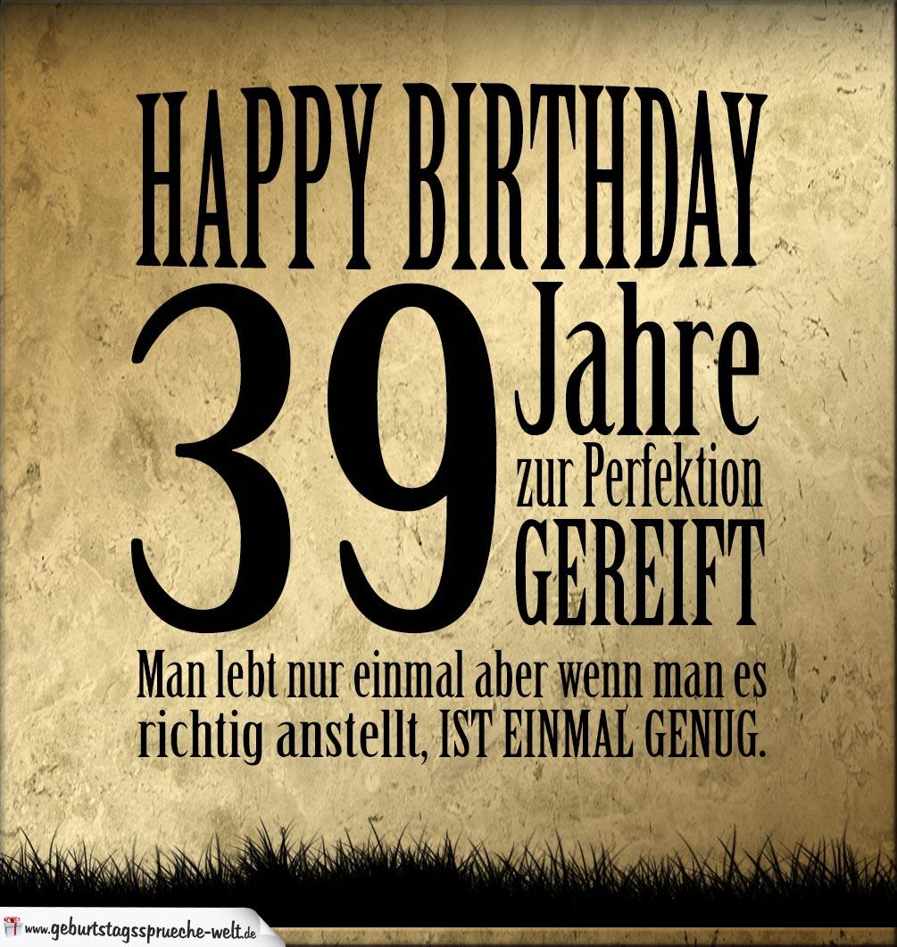 39 Geburtstag Retro Geburtstagskarte Geburtstagssprüche Welt
