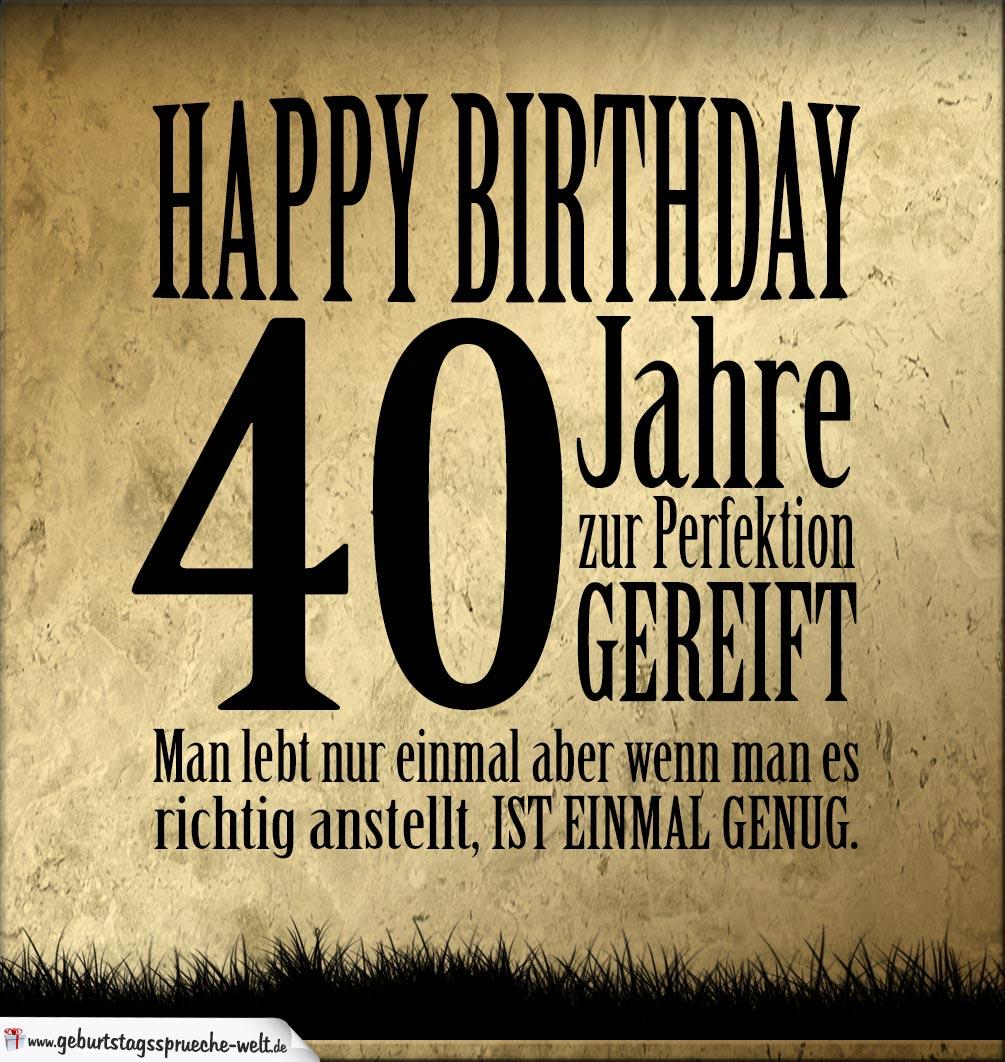 Geburtstagssprüche Zum 40