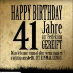 41. Geburtstag Retro Geburtstagskarte