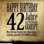 42. Geburtstag Retro Geburtstagskarte