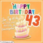 43. Geburtstag Geburtstagssprüche Happy Birthday Geburtstagskind