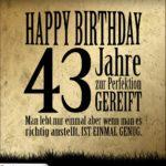43. Geburtstag Retro Geburtstagskarte