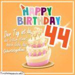 44. Geburtstag Geburtstagssprüche Happy Birthday Geburtstagskind