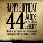44. Geburtstag Retro Geburtstagskarte
