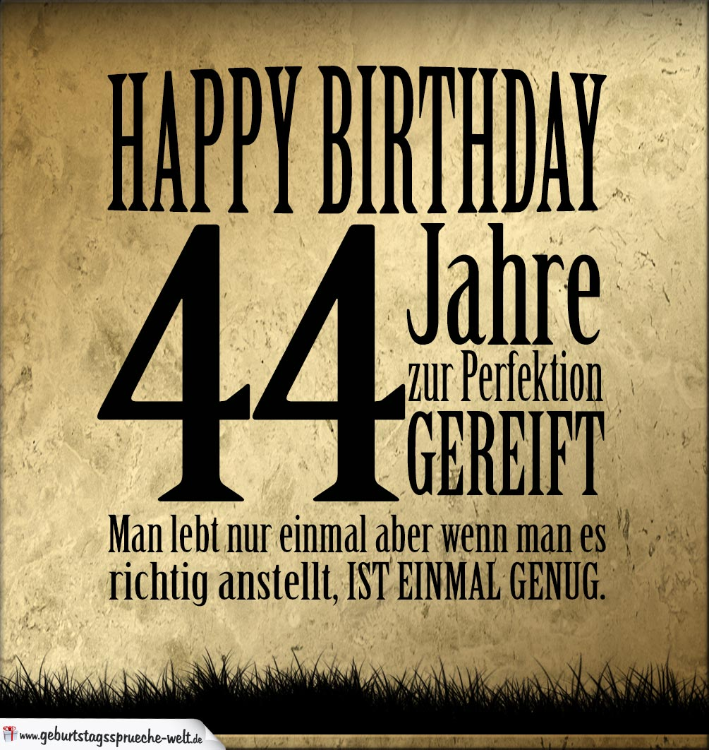 44 Geburtstag Retro Geburtstagskarte Geburtstagssprüche Welt