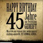 45. Geburtstag Retro Geburtstagskarte