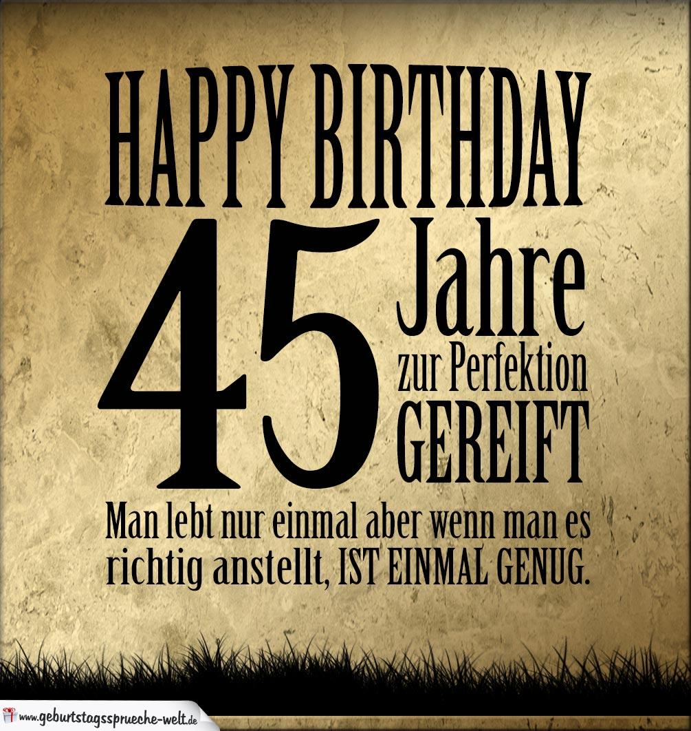 45 Geburtstag Retro Geburtstagskarte Geburtstagsspr 252 Che