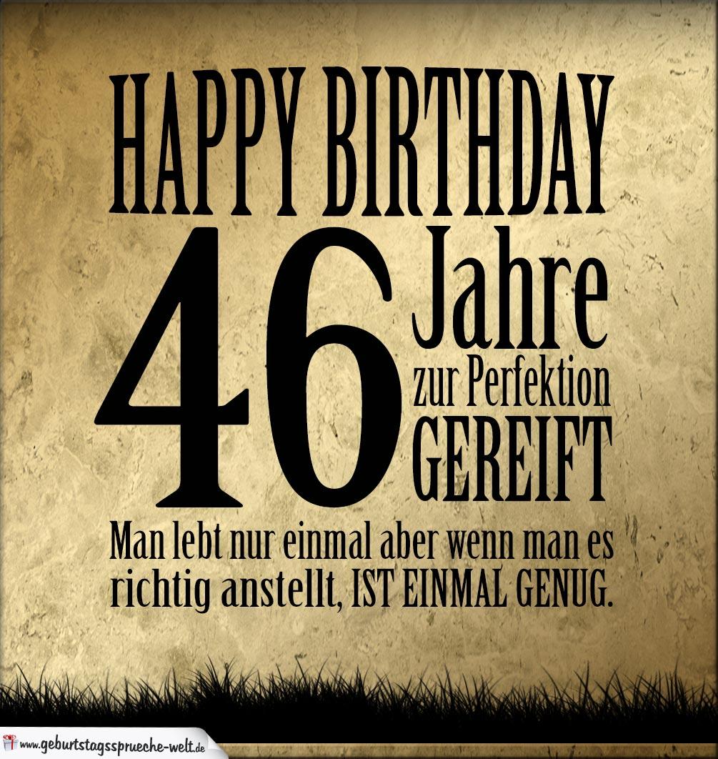 46. Geburtstag Retro Geburtstagskarte