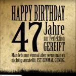 47. Geburtstag Retro Geburtstagskarte