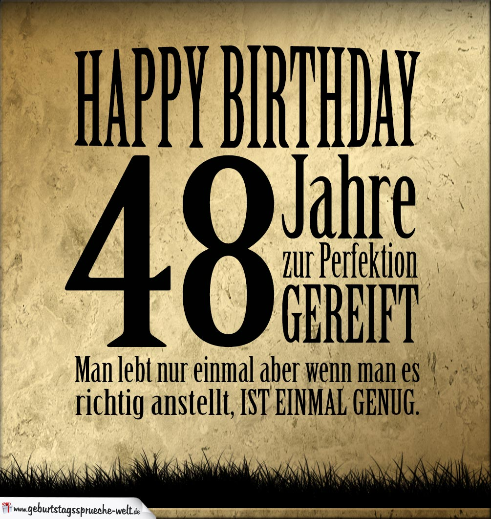 48. Geburtstag Retro Geburtstagskarte