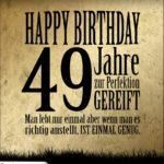 49. Geburtstag Retro Geburtstagskarte