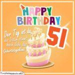 51. Geburtstag Geburtstagssprüche Happy Birthday Geburtstagskind