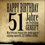 51. Geburtstag Retro Geburtstagskarte