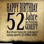 52. Geburtstag Retro Geburtstagskarte