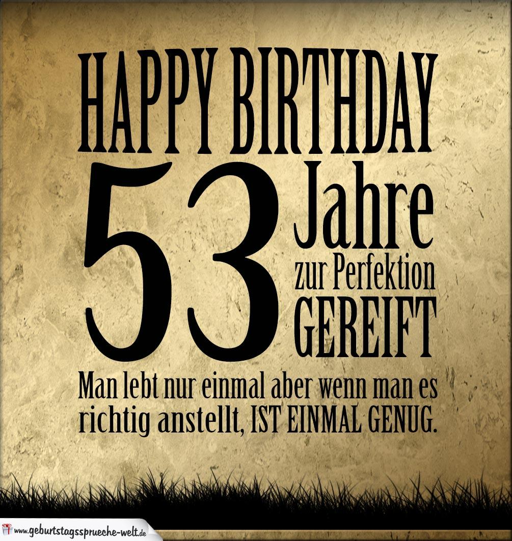 53. Geburtstag Retro Geburtstagskarte