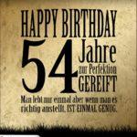 54. Geburtstag Retro Geburtstagskarte