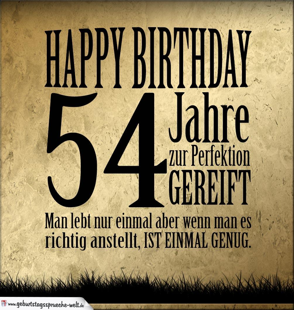 54. Geburtstag Retro Geburtstagskarte   Geburtstagssprüche Welt