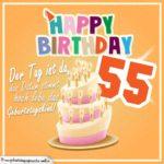 55. Geburtstag Geburtstagssprüche Happy Birthday Geburtstagskind
