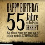 55. Geburtstag Retro Geburtstagskarte