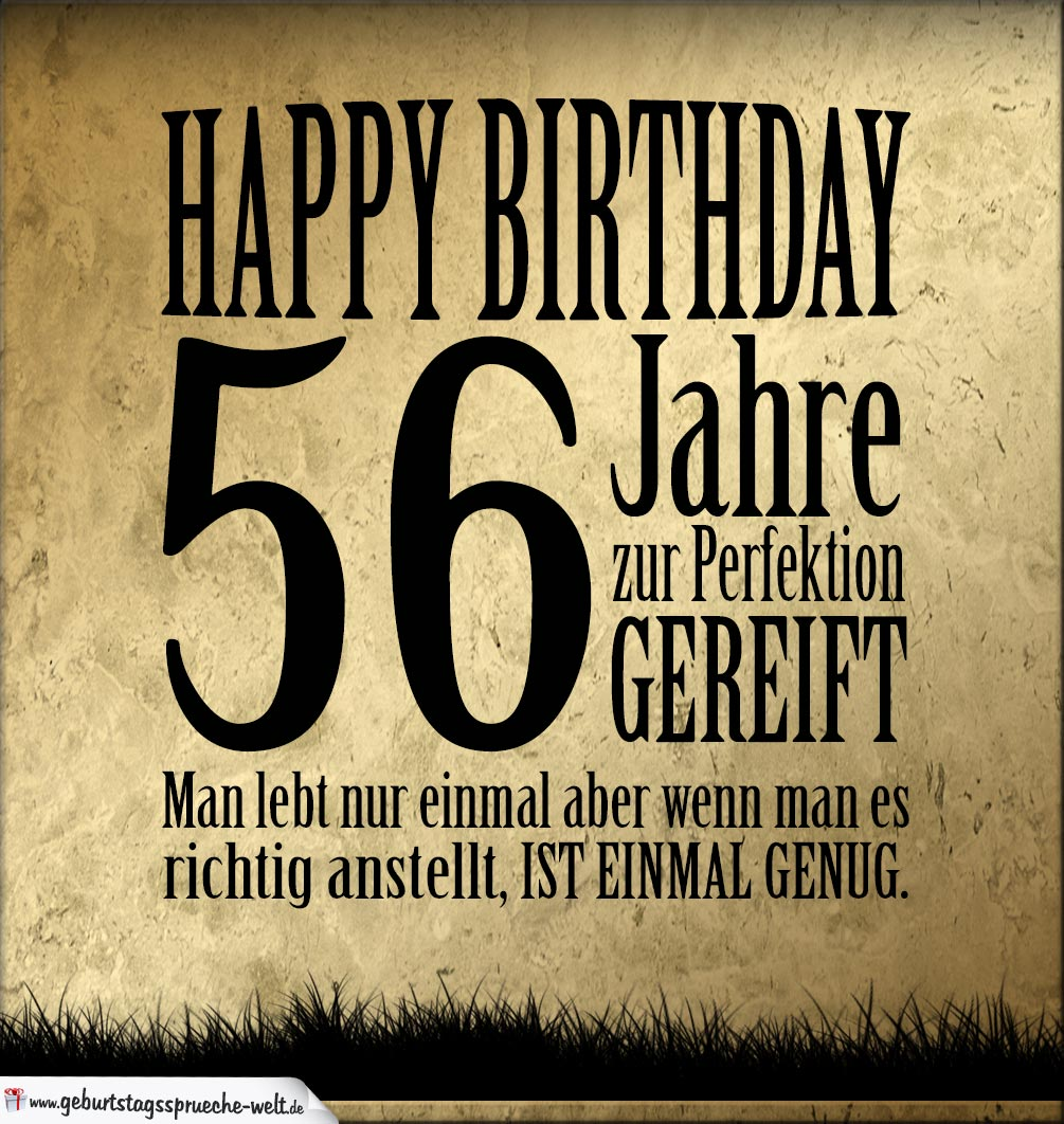 56. Geburtstag Retro Geburtstagskarte