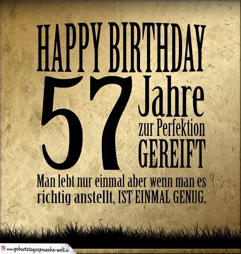 57. Geburtstag Retro Geburtstagskarte