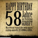 58. Geburtstag Retro Geburtstagskarte