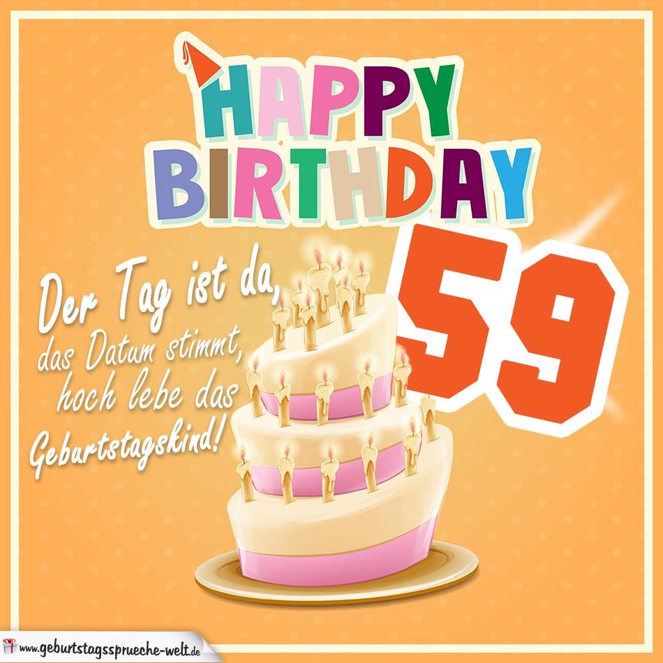 59. Geburtstag Geburtstagssprüche Happy Birthday Geburtstagskind