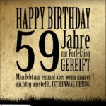 59. Geburtstag Retro Geburtstagskarte
