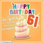 61. Geburtstag Geburtstagssprüche Happy Birthday Geburtstagskind