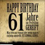 61. Geburtstag Retro Geburtstagskarte