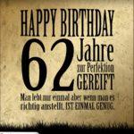 62. Geburtstag Retro Geburtstagskarte