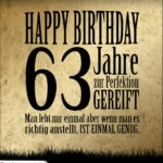 63. Geburtstag Retro Geburtstagskarte