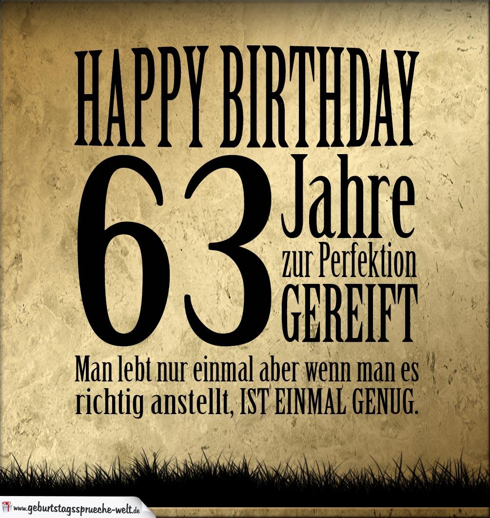 63 Geburtstag Retro Geburtstagskarte Geburtstagssprüche Welt