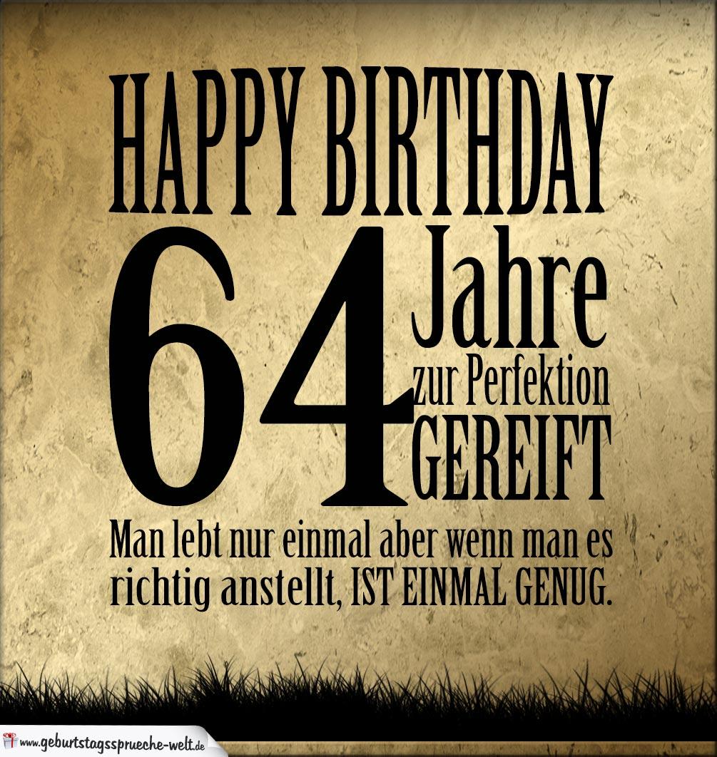 64. Geburtstag Retro Geburtstagskarte