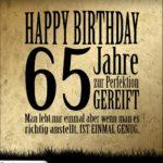 65. Geburtstag Retro Geburtstagskarte