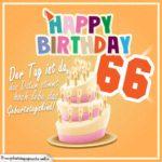 66. Geburtstag Geburtstagssprüche Happy Birthday Geburtstagskind