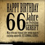 66. Geburtstag Retro Geburtstagskarte
