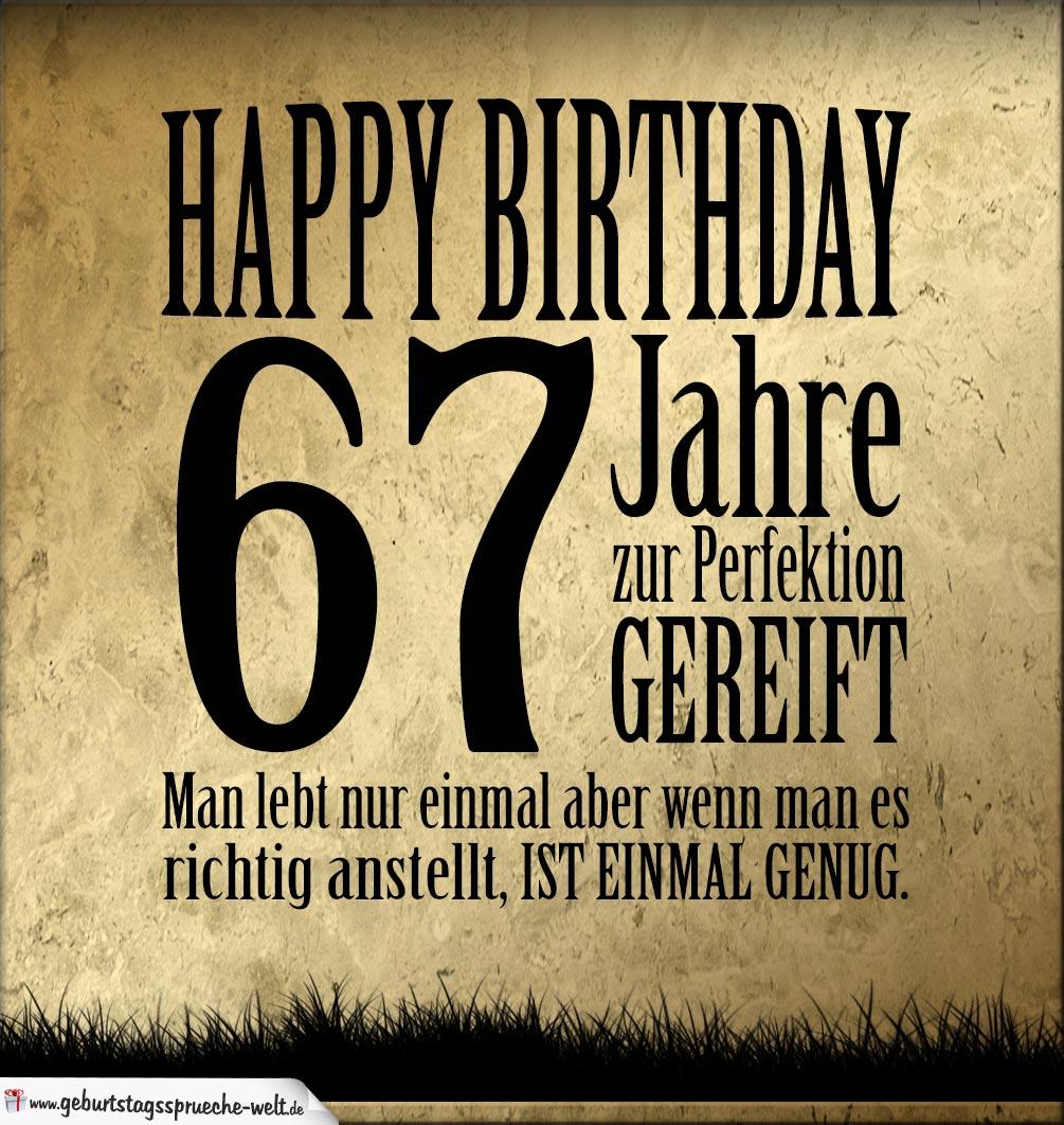67. Geburtstag Retro Geburtstagskarte