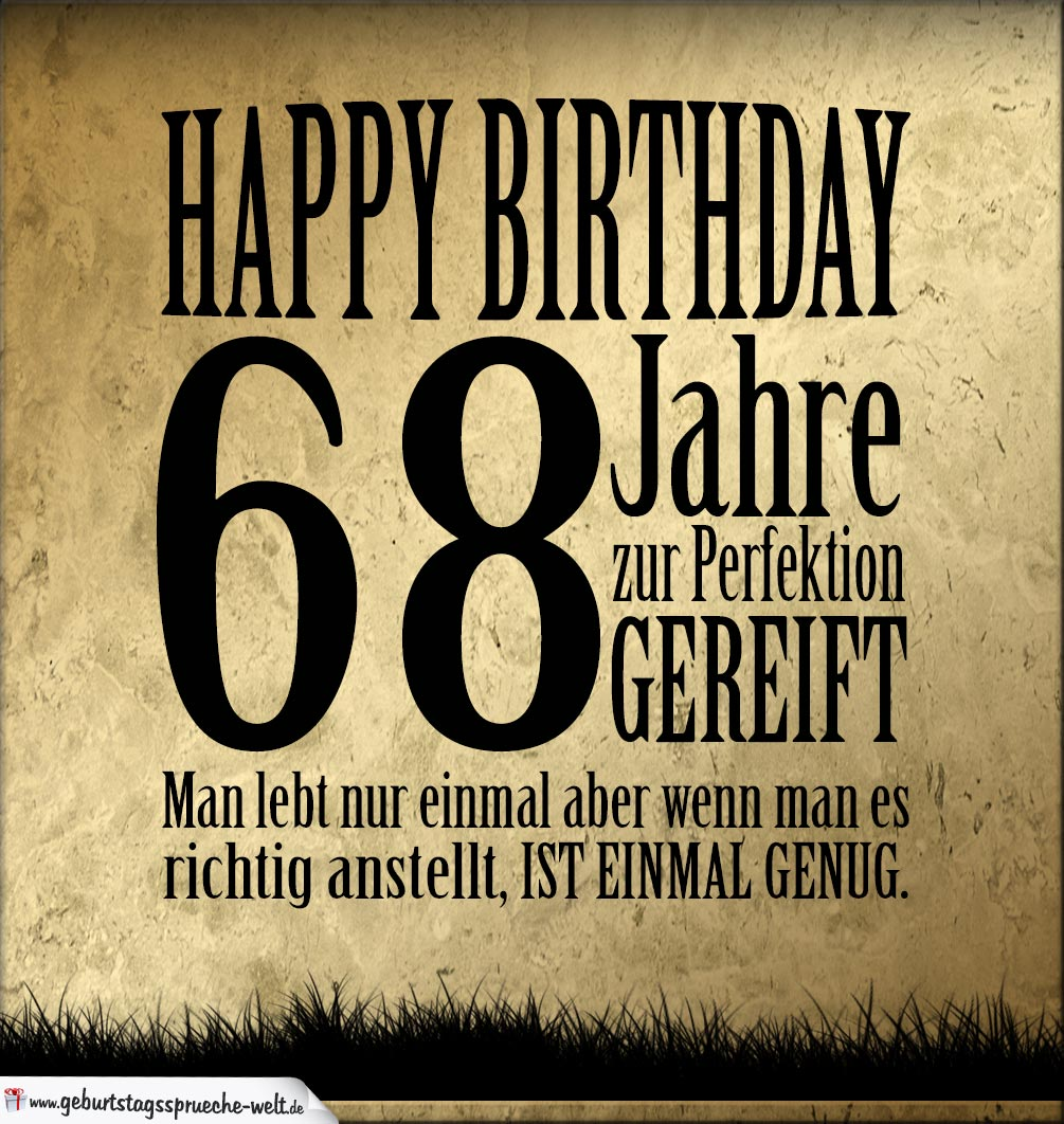 68. Geburtstag Retro Geburtstagskarte