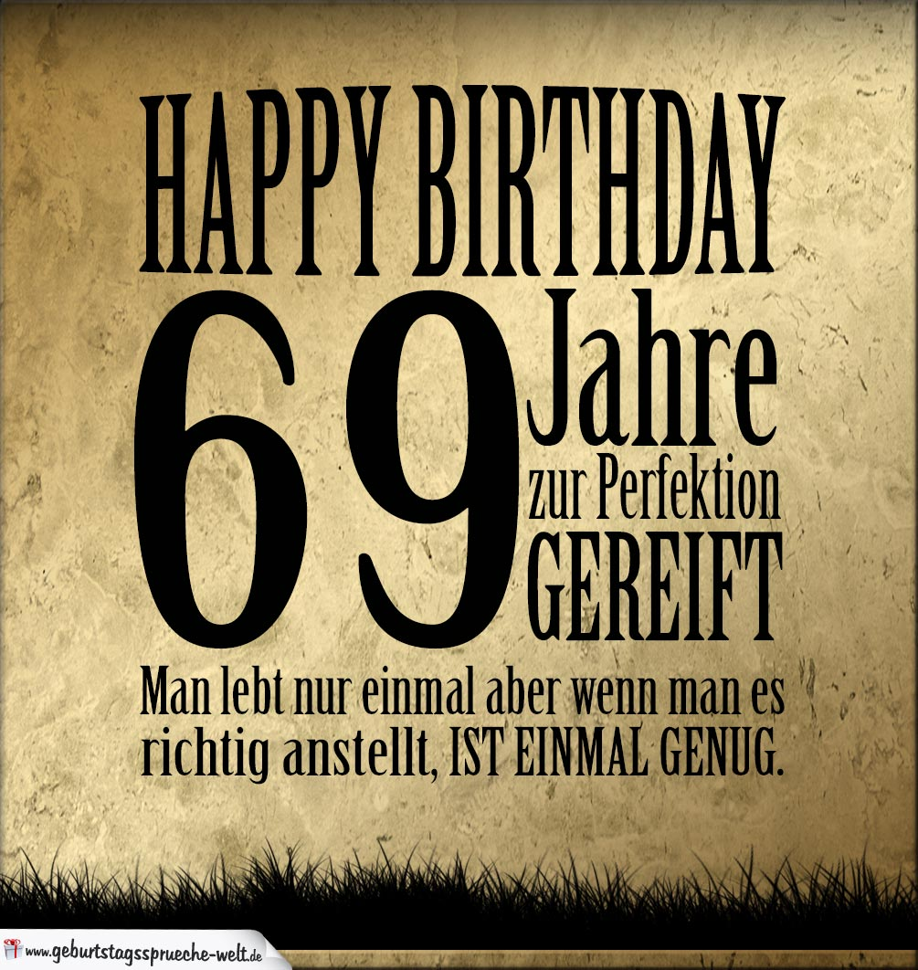 69. Geburtstag Retro Geburtstagskarte