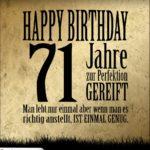 71. Geburtstag Retro Geburtstagskarte