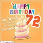 72. Geburtstag Geburtstagssprüche Happy Birthday Geburtstagskind